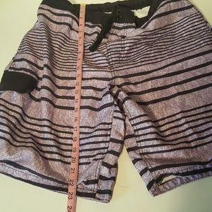 OP Swim - Men's OP Ocean Pacific Purple Black Wash Striped L